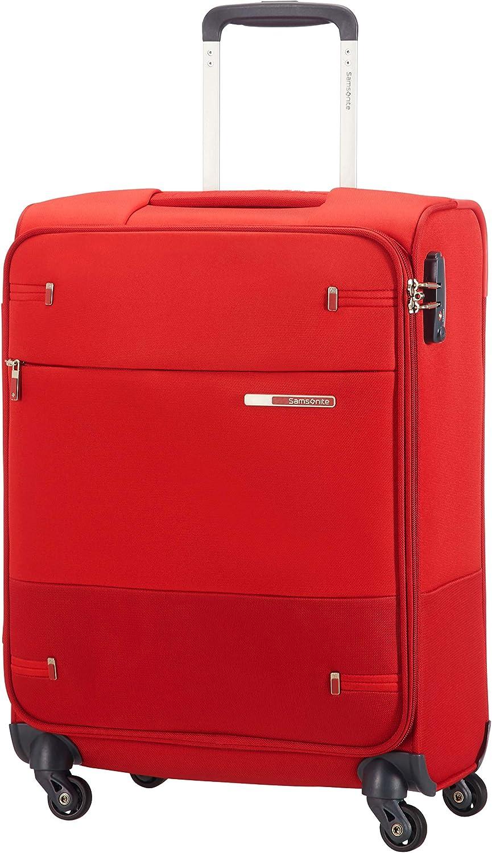 Samsonite Base Boost Spinner S Equipaje de mano, 55 cm, 39 L, Ancho: 40 cm, Rojo (Red)