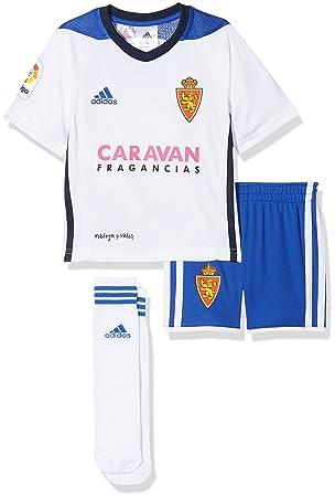 Adidas Real Zaragoza Conjunto, Unisex niños, Blanco, 98-2/3 años: Amazon.es: Deportes y aire libre