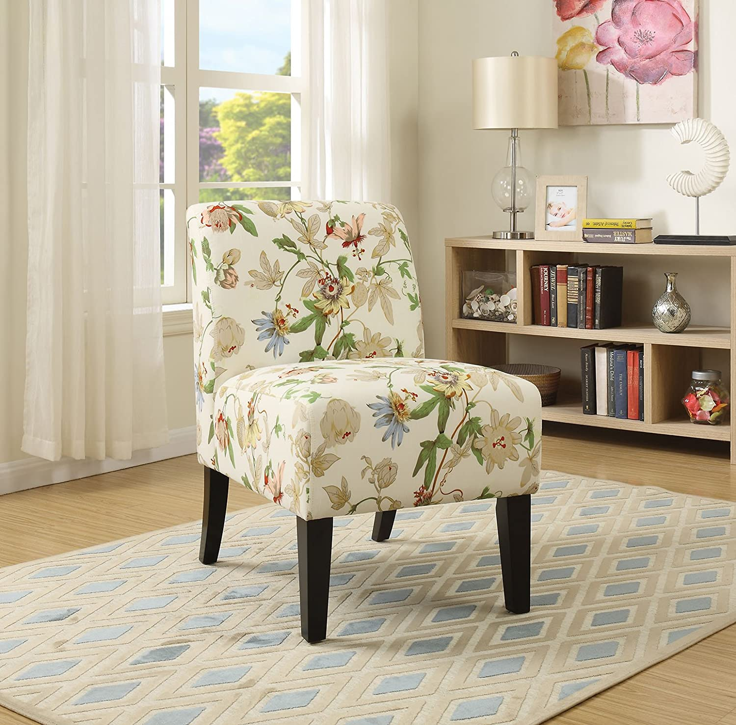Amazon.com: ACME Ollano Floral Fabric Accent Chair: Kitchen & Dining