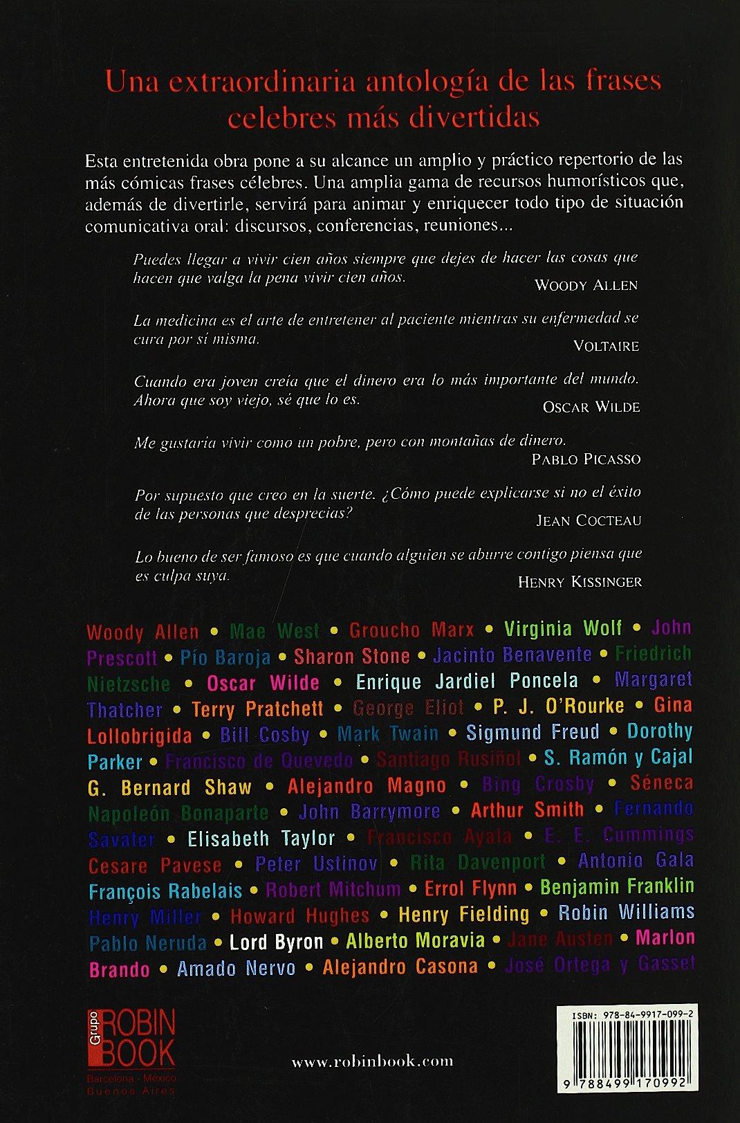 Mejores frases de humor, las: Una extraordinaria antología de las frases celebrs más divertidas Humor robin Book: Amazon.es: Samuel Red: Libros