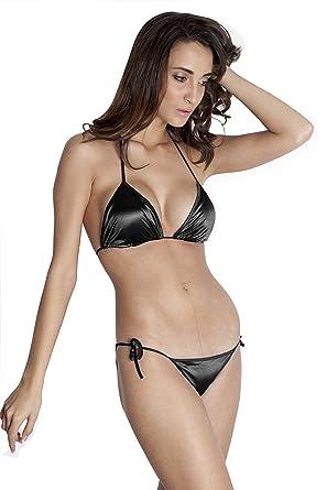 6a588296ad1 LACE AND ME Women s Satin Beach Wear Lingerie Bikini Top Bra Set ...