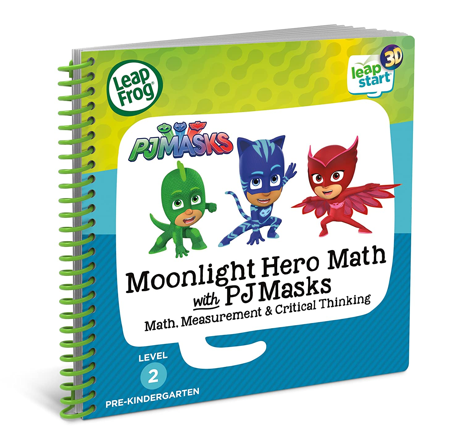 Amazon.com: LeapFrog LeapStart 3D Moonlight Hero Math with PJ Masks Book: Toys & Games