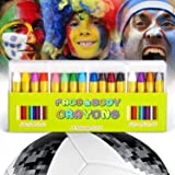 JamBer Crayons Face Painting Makeup Sticks Clown Makeup Non-Toxic Halloween Kids/Child Christmas Gift Dress up for Baby by (16pack)