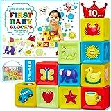 【namosee】赤ちゃん 積み木 柔らかおもちゃ 想像力を育む知育のつみき お片付けネット付 出産祝い