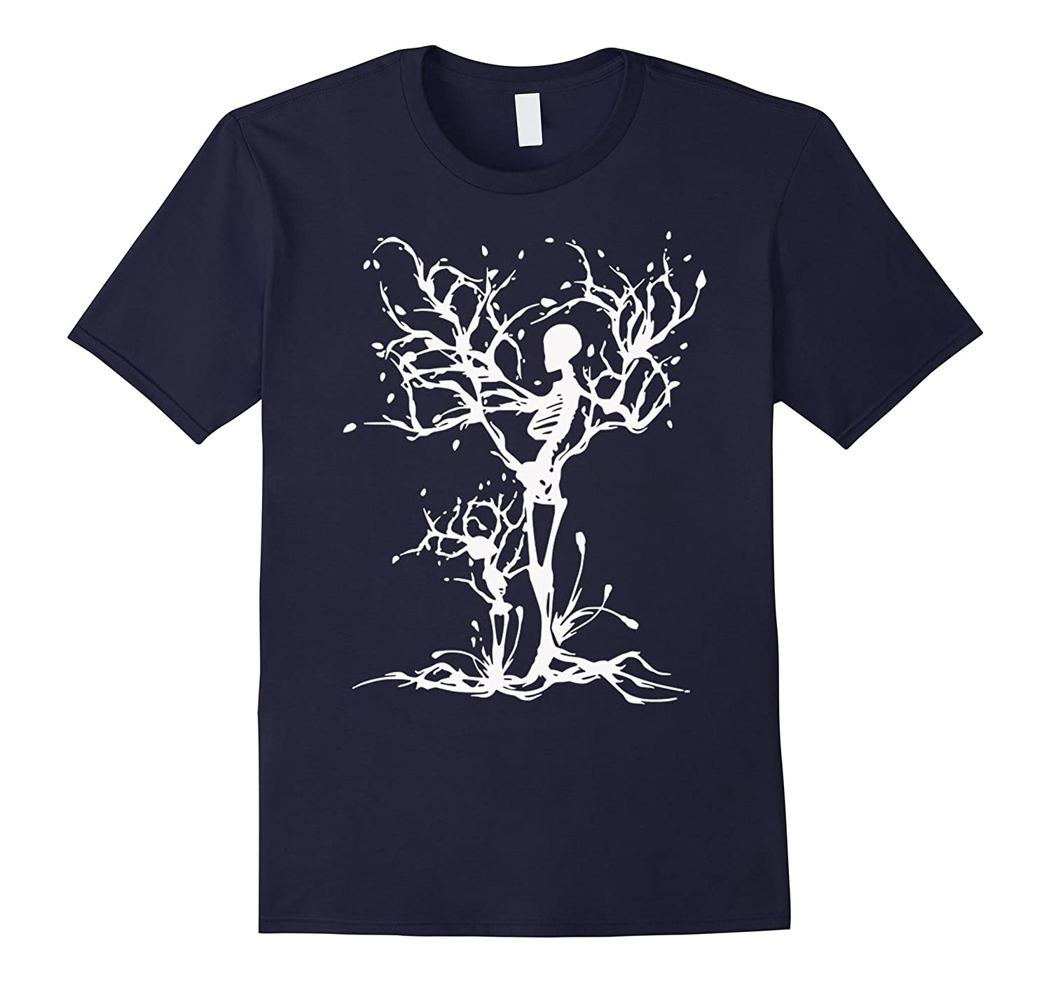 Skeleton Halloween T-Shirt mens women t-shirt-RT