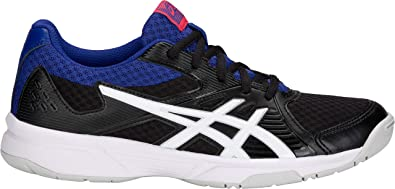 026582d3 ASICS Women's Upcourt 3 Volleyball Shoes, Black/White, Size 10