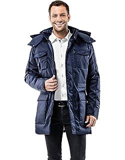 Vincenzo Boretti Herren Winter-Jacke dick warm gefüttert Parka kuschelig  sportlich elegant Winter-Mantel 783b09b97d