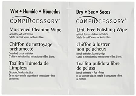 Amazon.com: Compucessory Wet & Dry Cleaning Wipes (CCS24218): Office Products