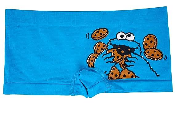 6c17de8b7872 Apparel Zoo Basics Sesame Street Me Want Cookies Boyshort in Blue. S ...