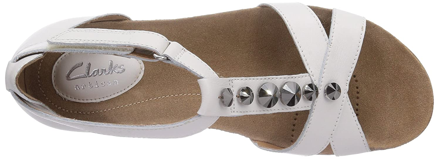 b2c2adc96419 Clarks Women s Raffi Scent Open Toe Sandals White Size  42 EU (8 UK)   Amazon.co.uk  Shoes   Bags