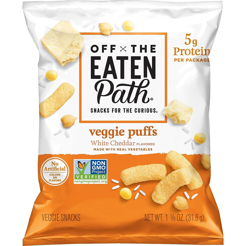 Off The Eaten Path Veggie & Gluten Free 1.125 Oz Bags, Puffs White Cheddar, 16 Count