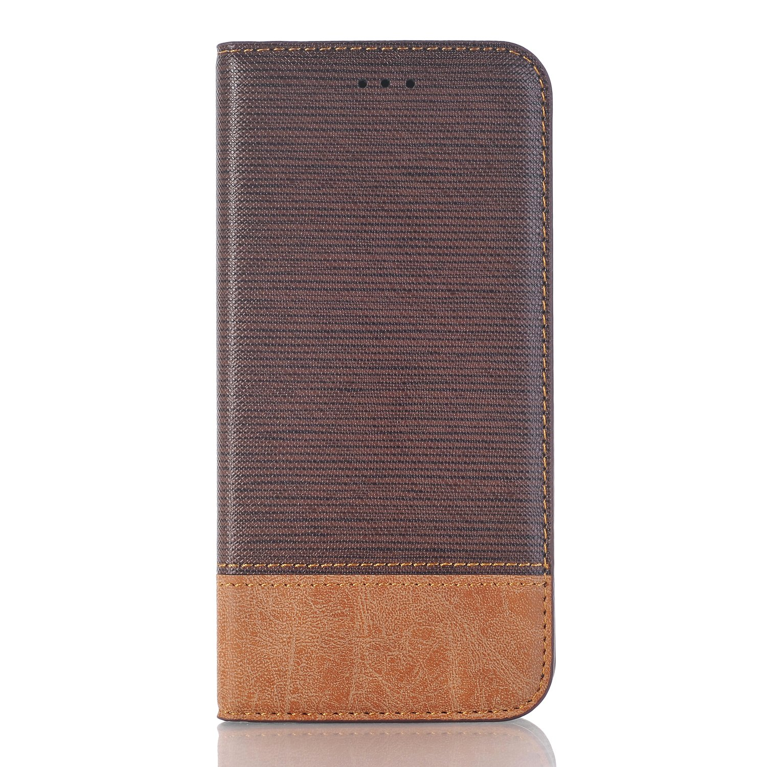 Samsung Galaxy S9 Wallet Case, PU Leather Case Magnetic Closure with Card Holder Folio Cover Flip Carrying Case Stand Feature Cover for Samsung Galaxy S9 - Dark Brown