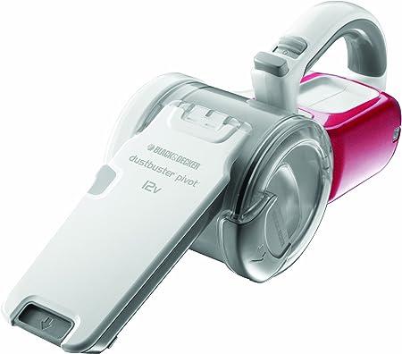 Black+Decker PV1225NPM-QW - Aspirador de mano con tecnología Cyclone (12 V) y accesorios incluidos, color blanco/rojo [importado de Alemania]: Amazon.es: Hogar
