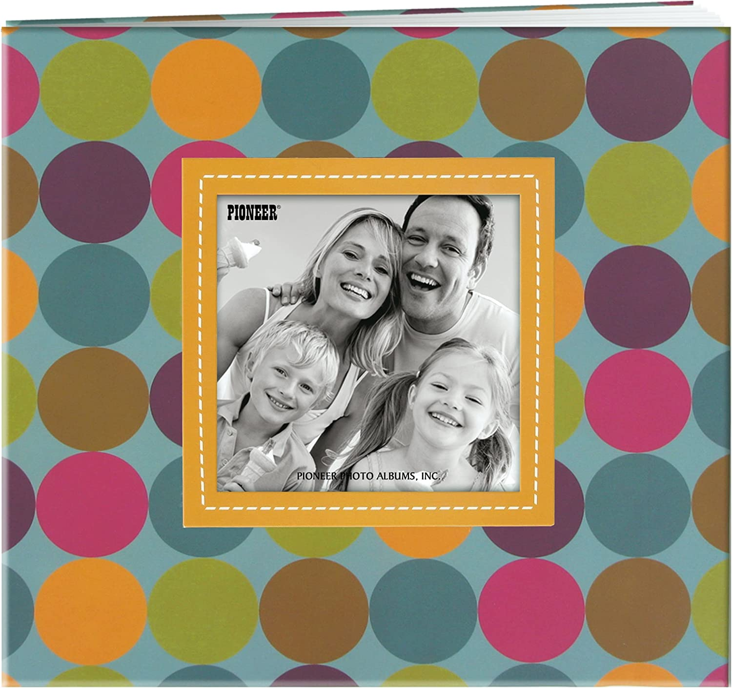Black MCS MBI 9.6x8.5 Inch Fashion Fabric Scrapbook Album with 8x8 Inch Pages with Photo Opening 802810