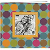 Pioneer Photo Albums 20 Page Designer Printed Raised Frame Dots Cover Scrapbook for 8 by 8-Inch Pages