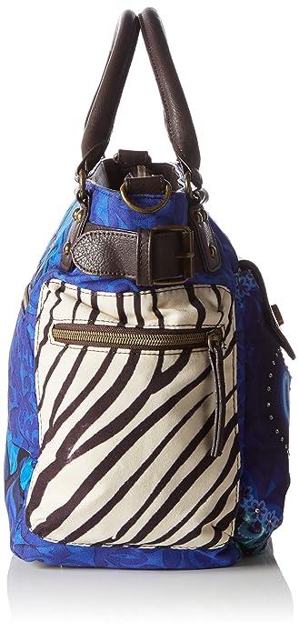 Desigual McBee Fun Zebra, Sac bandoulière Bleu (Azul Klein), Taille Unique