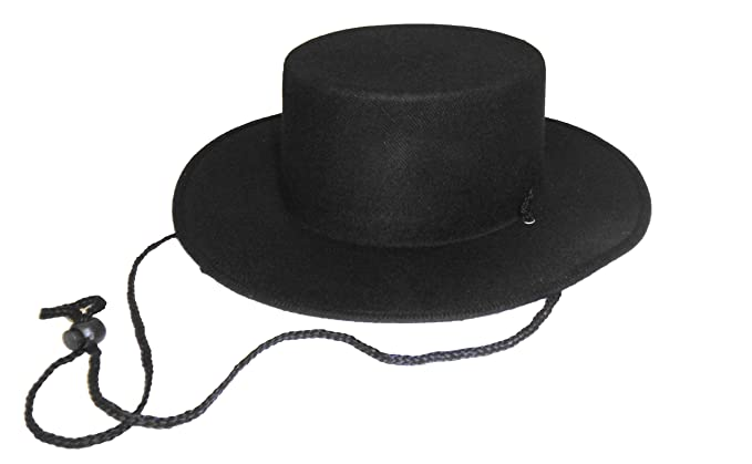 Image Unavailable. Image not available for. Colour  Black Spanish Style  Zorro Hat 9ace03ed079