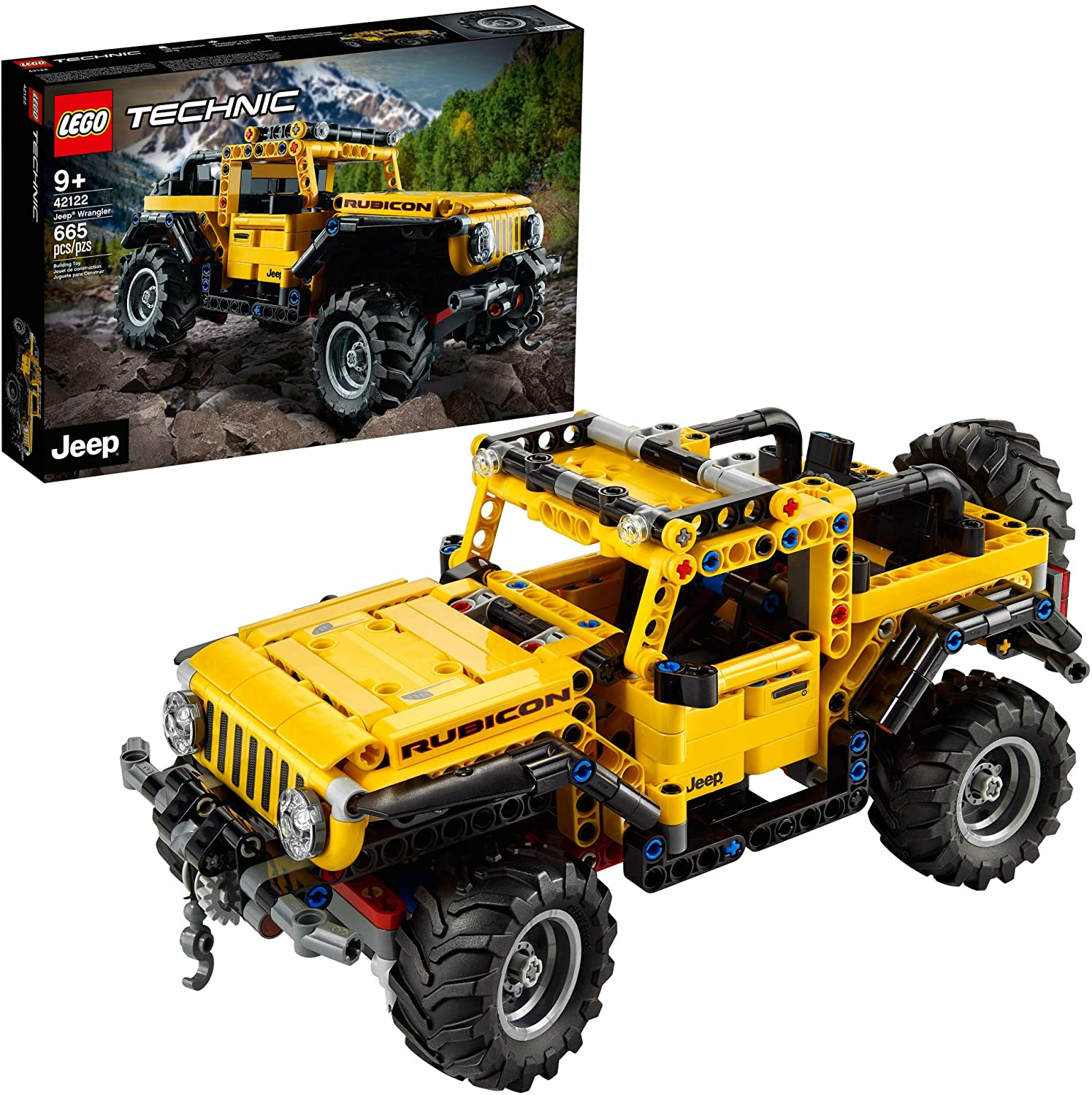 LEGO Technic Jeep Wrangler 42122; an Engaging Model Building Kit for Kids Who Love High-Performance Toy Vehicles, New 2021 (665 Pieces): Toys & Games