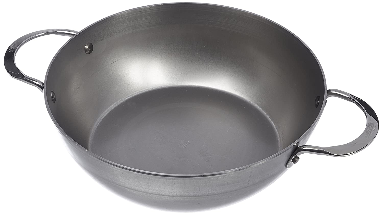 MINERAL B Round Country Chef Carbon Steel Fry Pan 11-Inch with 2 handles