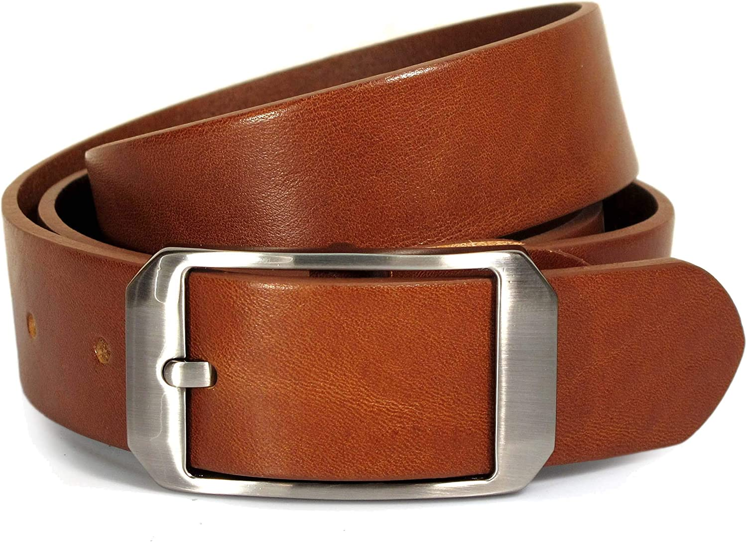 Womens Real Genuine Leather Tan Brown Belt 1.25 Wide S-L Thick Casual Jeans UW5
