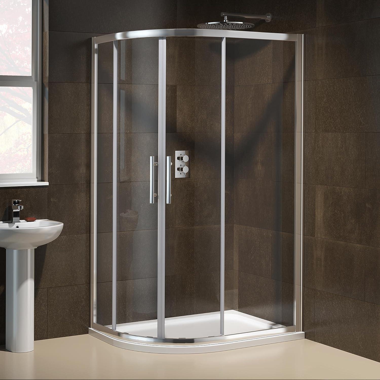 1200 x 900 mm funda para zurdos tijeras de cuadrante limpieza fácil de ducha juego de plato y: iBathUK: Amazon.es: Bricolaje y herramientas