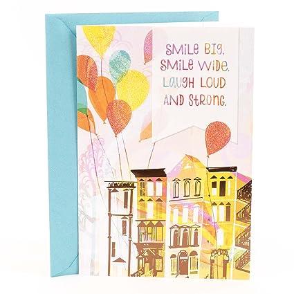 Amazon Hallmark Mahogany Birthday Card Balloons Office