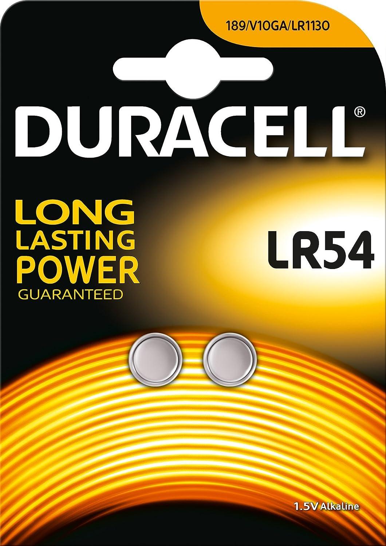 2 Duracell LR54 1.5 Volt Alkaline Battery 189 V10GA GP189 L1131 LR1130 A120 AG10