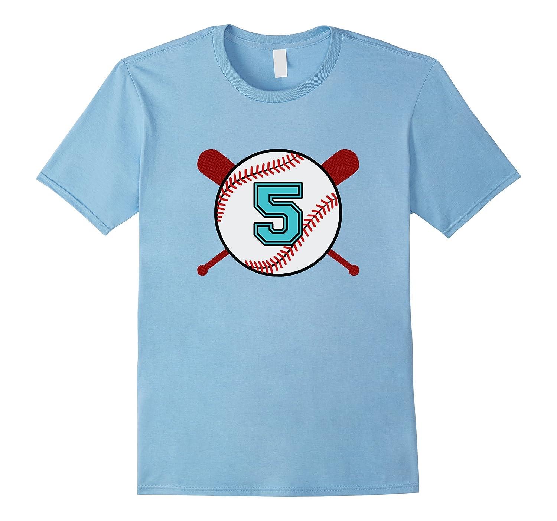 Vintage Baseball Jersey Number T-Shirt 5 Five-PL