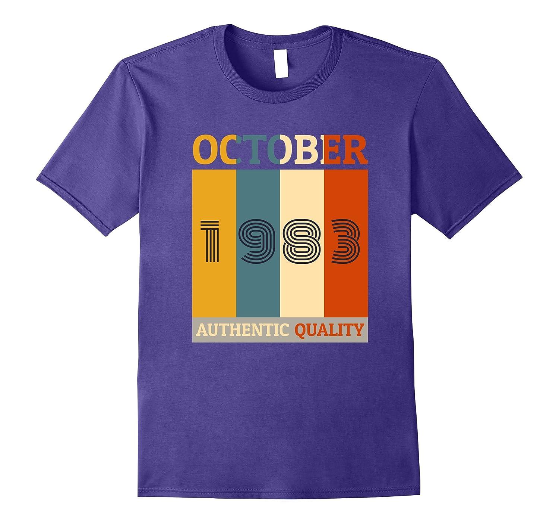 Born in October 1983 T-shirt. 34th Birthday Gifts Retro-FL