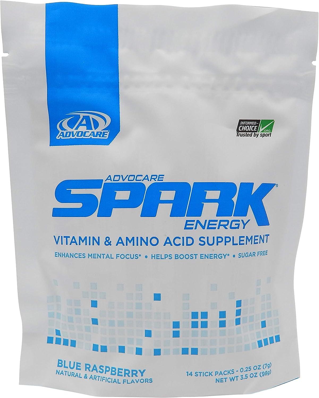 Advocare Blue Raspberry Spark 14 sticks packs(3.5 ounces)