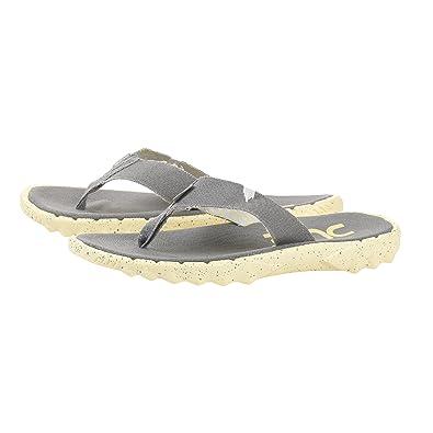 Dude Shoes Herren Damen Sava Grau Zitrone Leinwand Flip Flop EU38/EU39 totv4w8Tdr