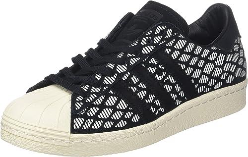 adidas Damen Superstar 80S W BZ0642 Fitnessschuhe, Schwarz