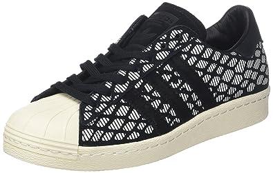 adidas Superstar 80S W BZ0642, Chaussures de Fitness Femme, Noir (Negbas/Negbas/Casbla), 42 2/3 EU