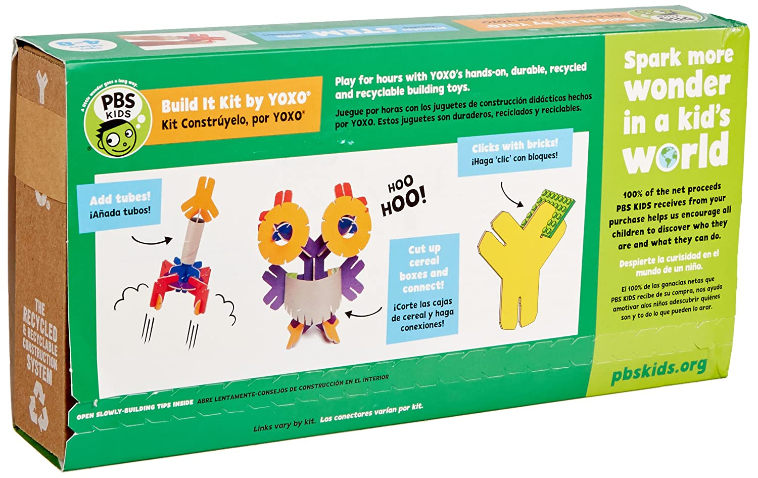 Amazon.com: PBS KIDS Build It Kit by YOXO - 30 Piece Creative Building Toy: Toys & Games