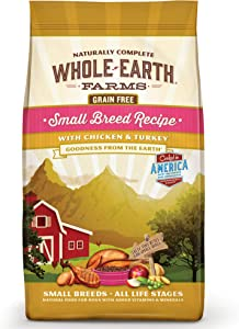 Whole Earth Farms Grain Free Dry Dog Food for Small Breeds