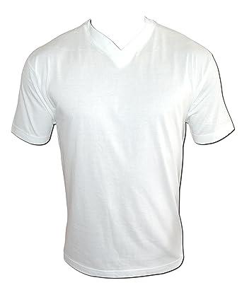 12er Pack weißes T Shirt weiße Herren Damen Classic T Shirts S bis XXL 100% reine Baumwolle V Neck V Kragen V Ausschnitt
