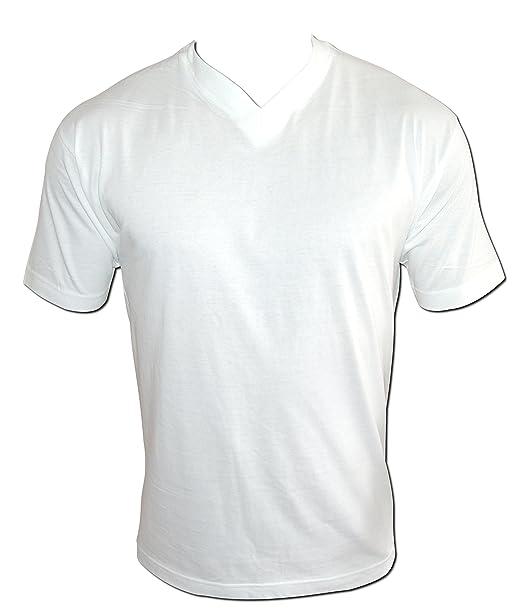 4899cd921644b8 12er Pack weißes T-Shirt weiße Herren Damen Classic T-Shirts S bis XXL 100%  reine Baumwolle V-Neck V-Kragen V-Ausschnitt  Amazon.de  Bekleidung