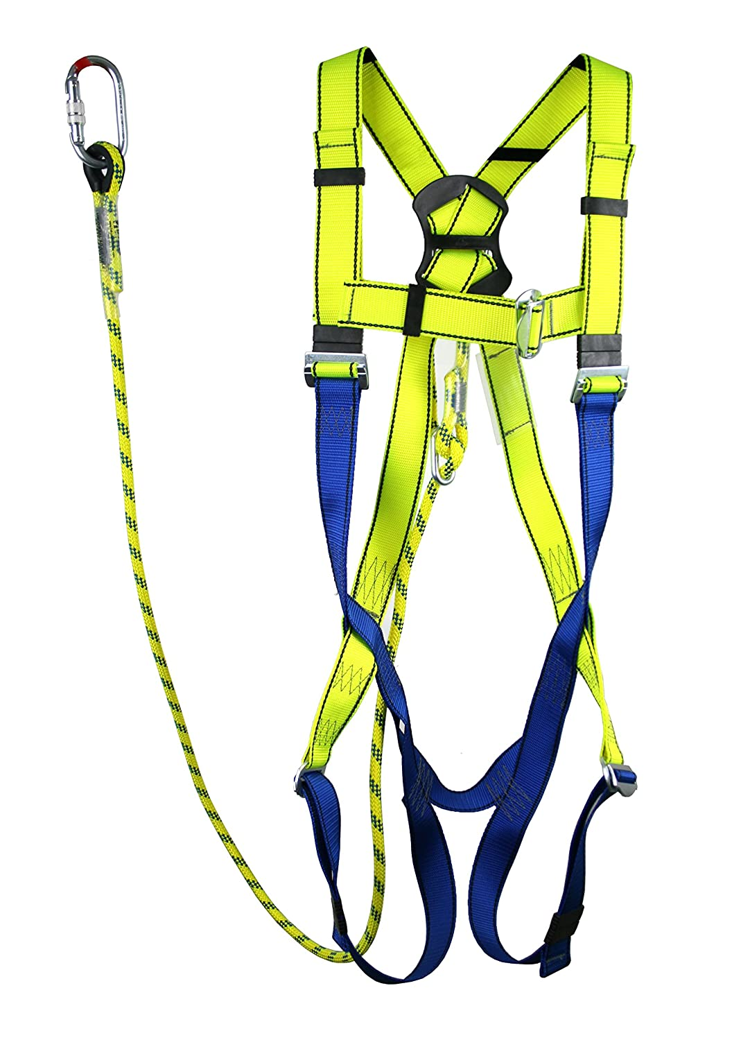 Full Body Height Safety Fall Arrest Restraint Harness Kit for Access Platform Cherry Picker Restraint, Fully Adjustable (Small) SafetyLiftinGear