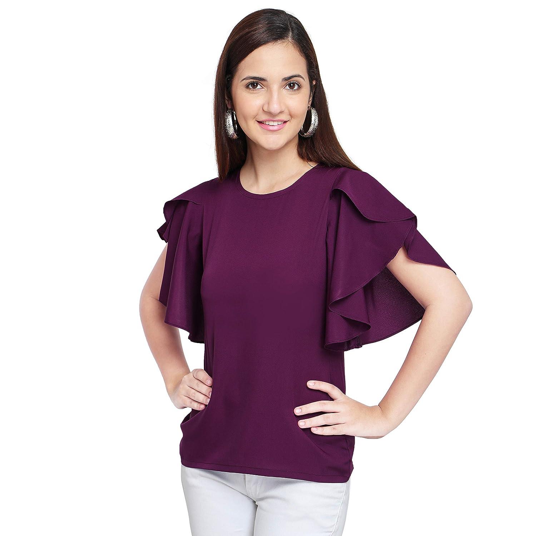 0749e87ddddb OOMPH! Women's Crepe Tank Top - Eggplant Purple: Amazon.in: Clothing &  Accessories