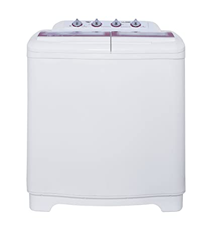 Lloyd 7.5 kg Semi-Automatic Top Loading Washing Machine (LWMS75, Pink and White) Washing Machines & Dryers at amazon