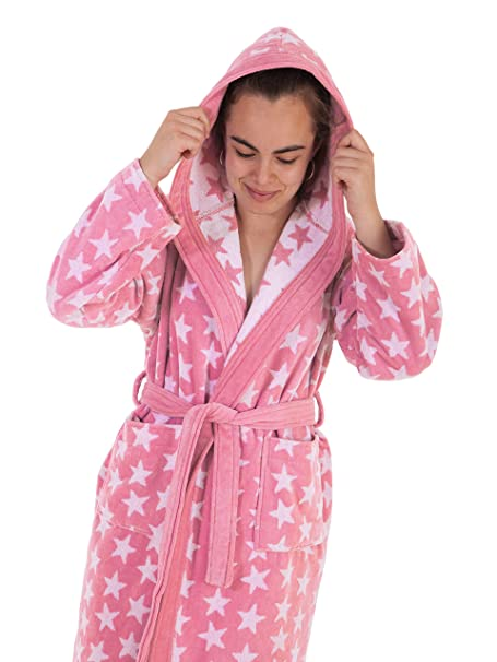 Stilia. Juvenil Dressing Gown for Girls Terry cloth 100% cotton. Ster 10 a 12  años   10 to 12 years old coral garden  Amazon.co.uk  Kitchen   Home 4ffb975f7
