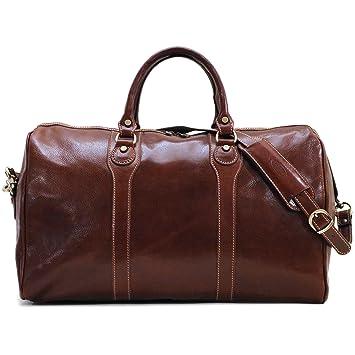 Amazon.com   Floto Luggage Milano Duffle Bag, Vecchio Brown, One Size    Travel Duffels 2c4636a392