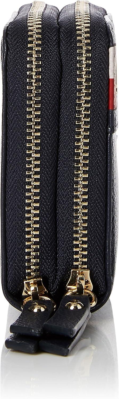 B x H x T 5x13x10 cm Corporate Portefeuilles femme Tommy Hilfiger Cool Hardware Dbl Zip M Wlt Corp Noir