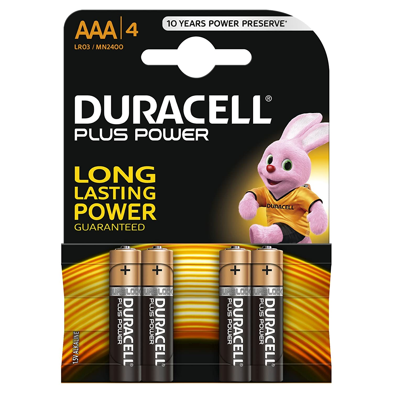 Duracell AAA MN2400 Plus Power Long Lasting Alkaline Batteries LR03 MINI STILO