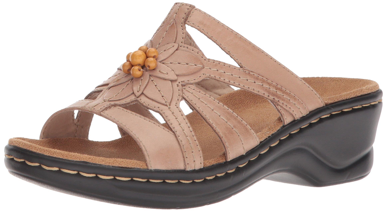 CLARKS Women's Lexi Myrtle Platform, Sand Leather, 8.5 Medium US