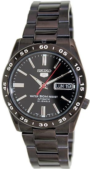 Seiko SNKE03K1 - Reloj de automático para hombre, con correa de acero inoxidable, color negro: Seiko: Amazon.es: Relojes