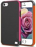 EXSEK iPhone 5/5S SE Case, Hybrid Impact Slim 3 Color Shockproof Case [Anti-Slip] [Extra Front Raised Lip] Scratch…