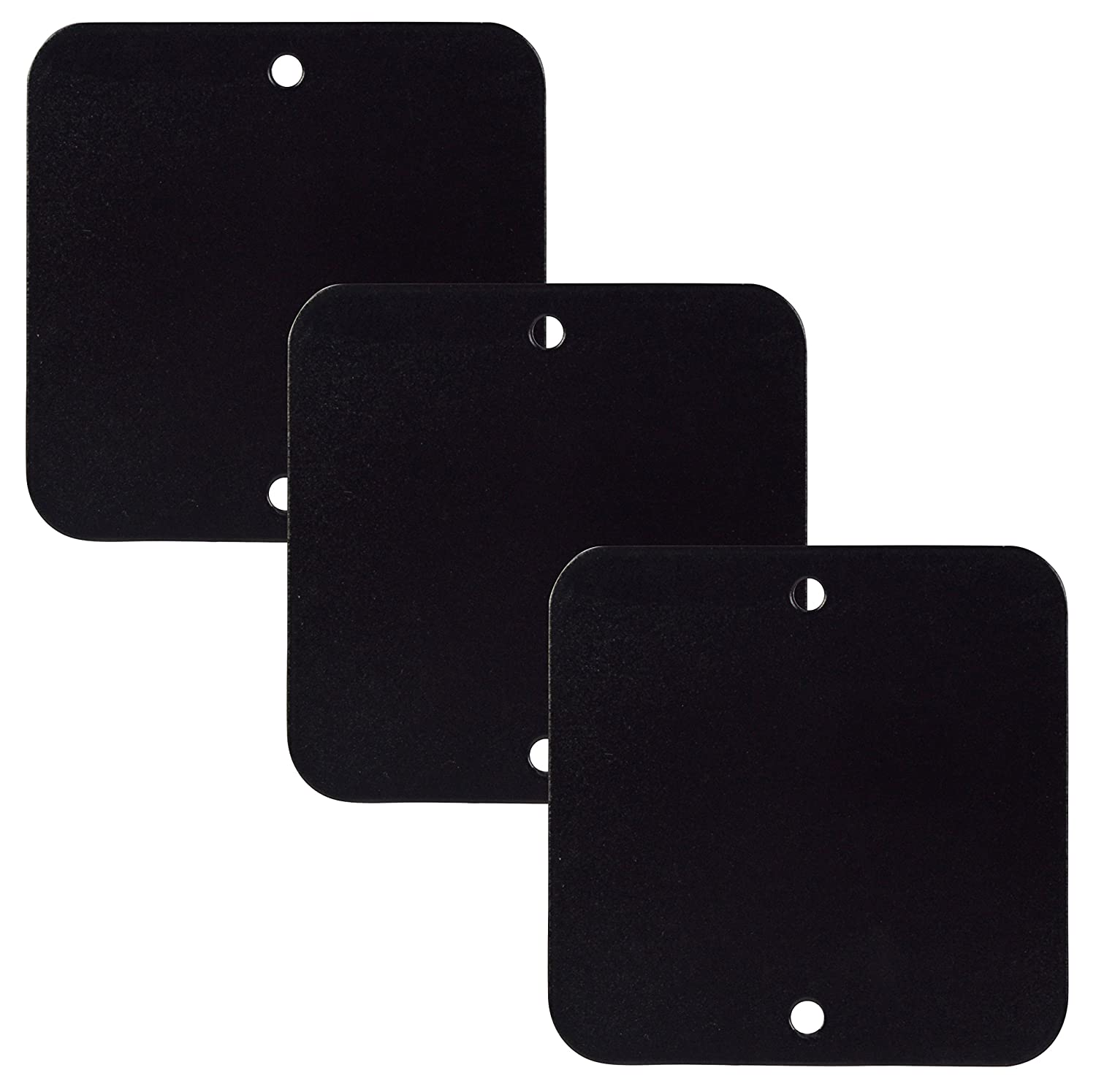 3 Extra Metal Plates for use with Phone Tagg Universal Magnetic Smartphone Holder - Black