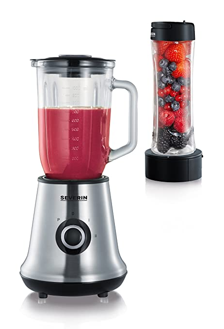 Severin SM 3737 Multi Mixer Plus Smoothie Mix And Go, 500 W, Brushed  Stainless Steel/Black: Amazon.co.uk: Kitchen U0026 Home