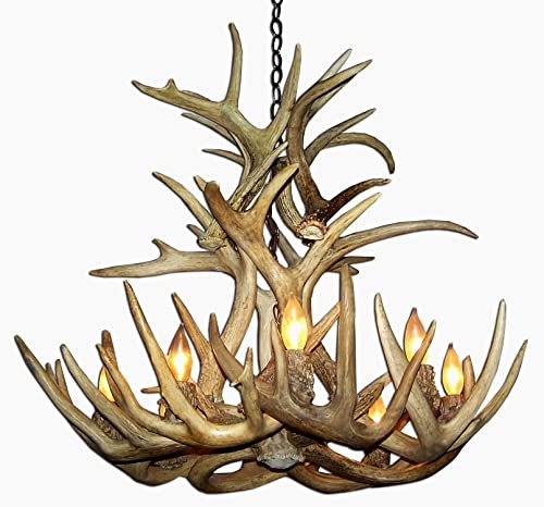 Real Antler Whitetail Deer Cascade Chandelier Light XXLarge